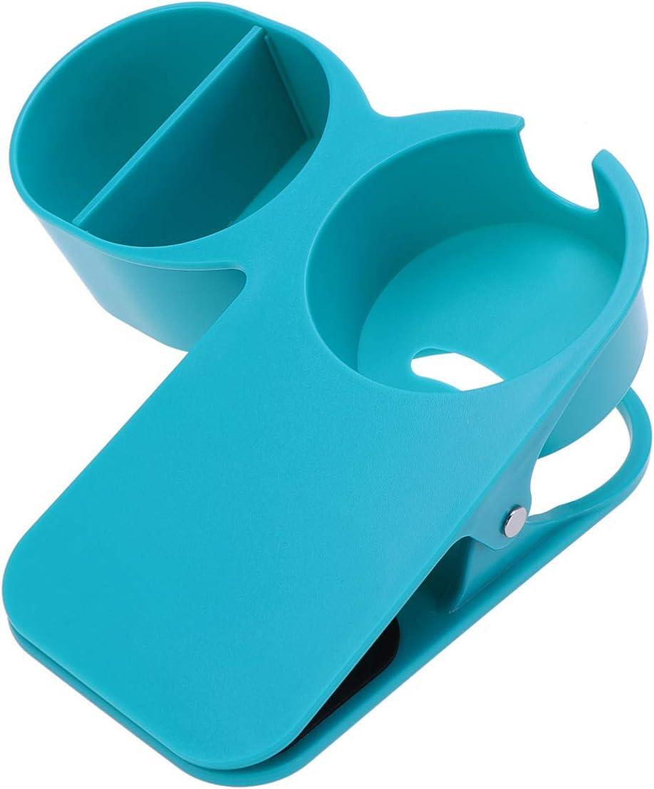 UPKOCH Clip On Cup Holder Home Office Table Desk Side Clip Water Drink Beverage Soda Coffee Mug Holder Table Edge Organizer Holder (Blue)