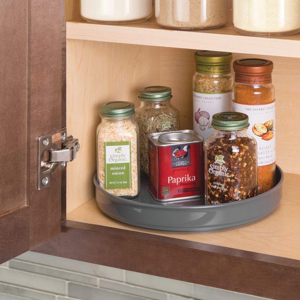 mDesign Plato giratorio para estantes de cocina – 22,9 cm de ...