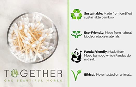 Junther - Bastoncillos de algodón de bambú | 800 en total ...