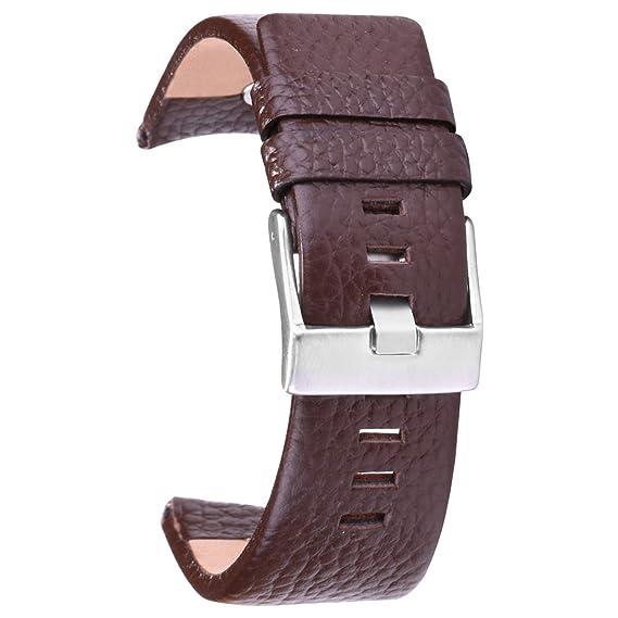7a2a727ccedd Pulsera Hombre 30mm Cuero de Correa de Cuero con Hebilla de Acero Inoxidable  para Las Hombre  Amazon.es  Relojes