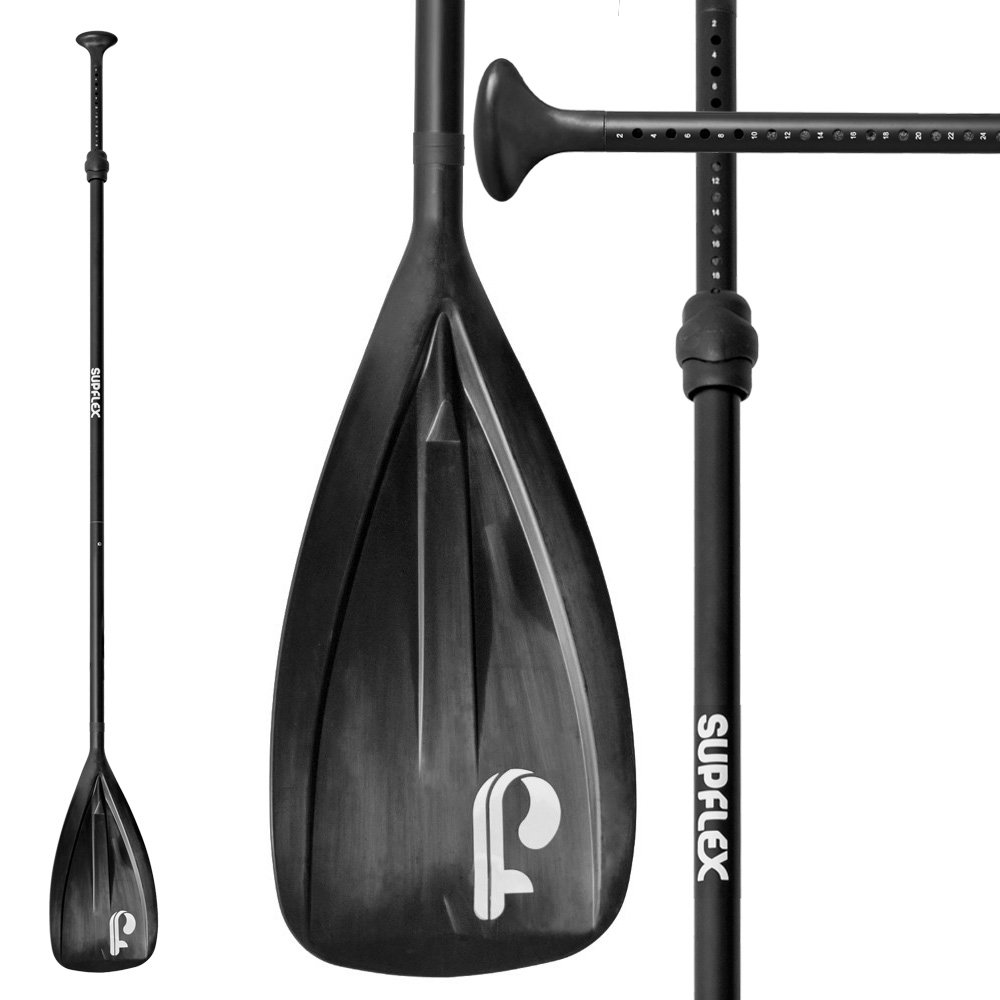 3 Piece Adjustable Stand Up Paddle with Aluminum Shaft /& Nylon Blade Supflex Alloy Floating Sup Paddle