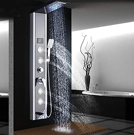 Shower system Columna de Ducha de luz LED Panel de Ducha de baño ...