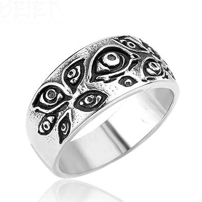 d1efeb84c69a2d LILILEO Jewelry Titanium Steel Alternative Punk Terror Eye Ring For Men's  Rings|Amazon.com