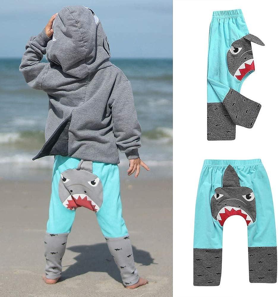 LIKESIDE Toddler Baby Girl Boy 3D Cartoon Shark Pants Leggings Trousers Outfits
