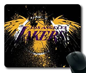 NBA Los Angeles Lakers-003 Rectangle Mouse Pad by eeMuse