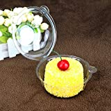 100 pcs Mini Clear Cupcake Single Individual Holder Case Disposable Muffin Dome Box Plastic Container For Wedding Party Bakery Shop