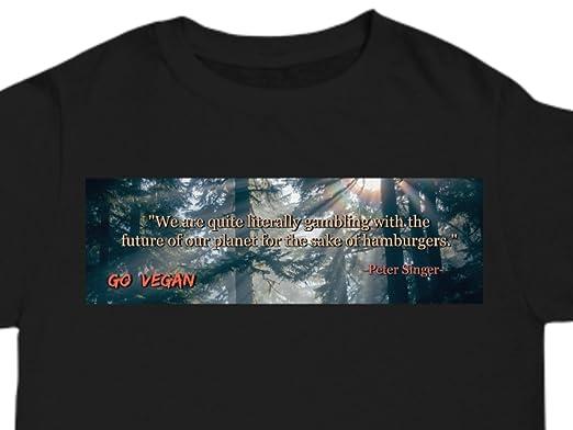 T-shirt Go Vegan Text Men/'s Black