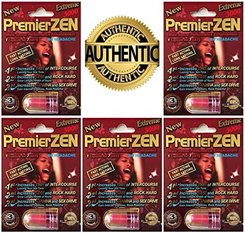 PremierZEN Platinum 3000mg Male Sexual Performance Enhancement %100 AUTHENTIC (5 PInk)