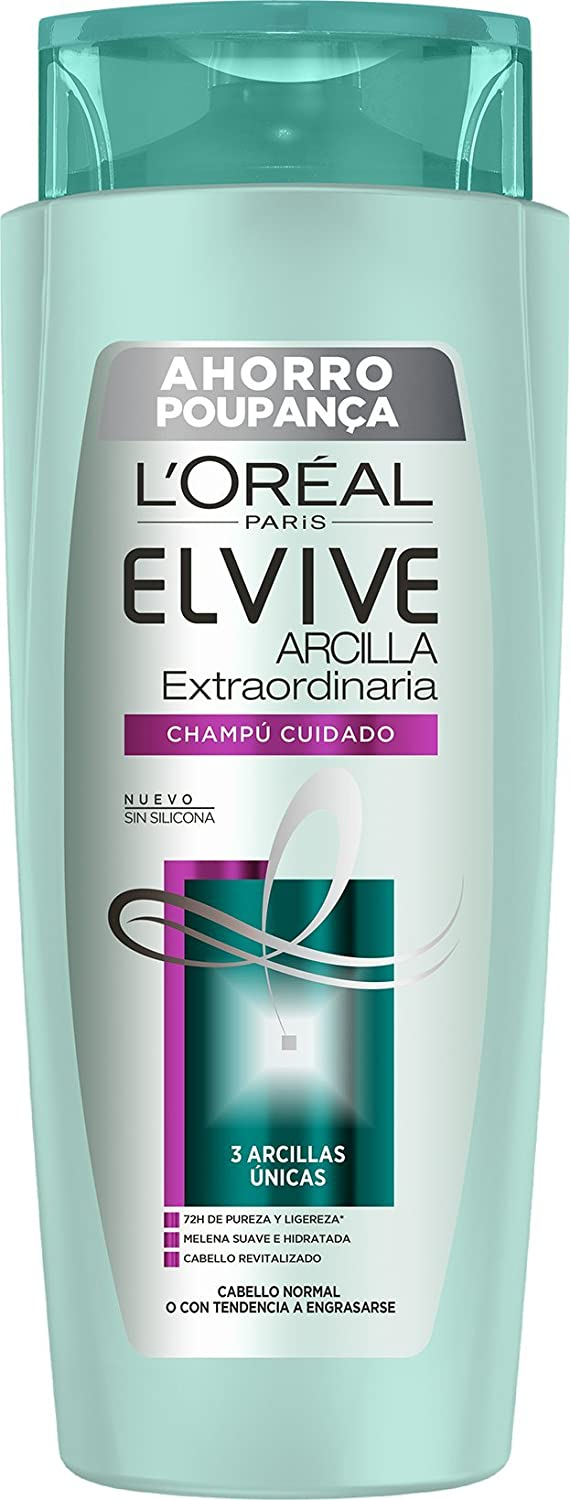 ELVIVE champú arcilla extraordinaria cabello normal bote 700 ml