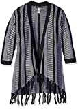 kensie Little Girls' Cardigan Sweater (More Styles Available), Black/Vanilla, 5/6