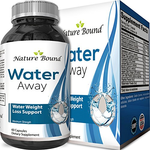 Water Pills for Bloating – Premium Weight Loss Supplement for Women and Men – Reduce Water Retention – Antioxidant Green Tea and Vitamin B6 Boost Metabolism and Energy – Maximum Strength Fat Burner by Nature Bound