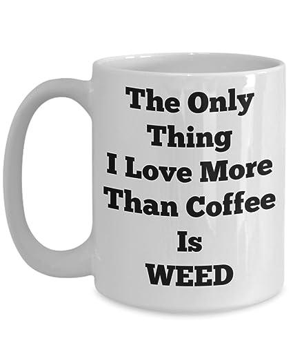 878d7854e90 Amazon.com: COFFEE WEED MUG, Cannabis Themed Gifts, Marijuana Travel ...