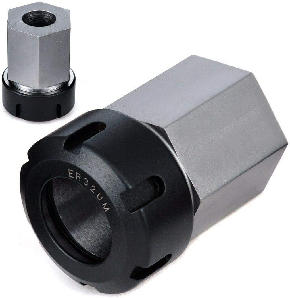 ER32 Collet Block Chuck Collet Holder Made of Steel for Lathe Engraving Machine und Fast Set-ups on CNC Machines Hex Collet Block Square