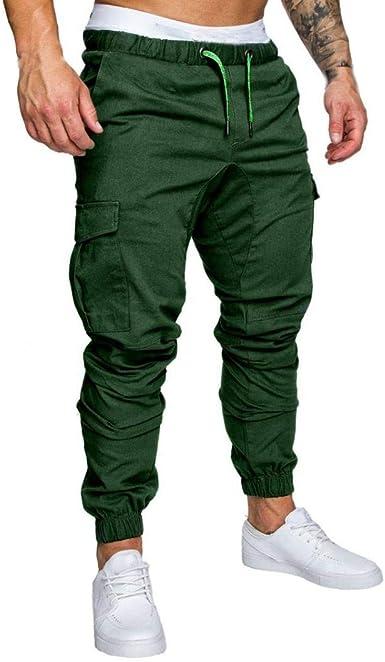Pantalones De Chándal Algodón De Hombre para Pantalones Casual ...