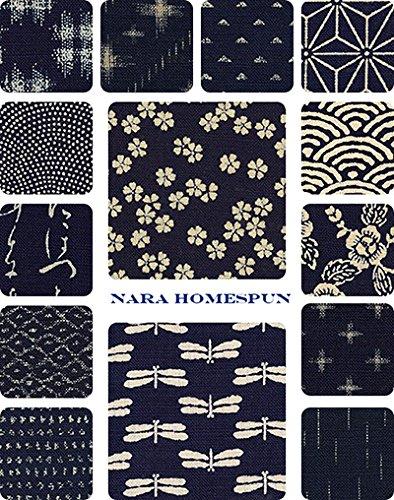 Nara Homespun - 14 Fat Quarter Bundle- Asian Japanese Qui...