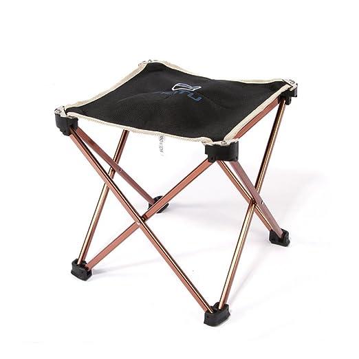 Ultraligero Portátil Plegable Taburete - Acampar Impermeable Aluminio Plegable Silla de 4 patas, al aire libre para Viajar Camping Barbacoa Playa ...