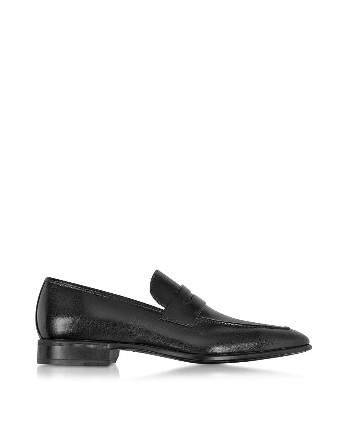 MORESCHI MEN'S 41335MQ BLACK LEATHER LOAFERS