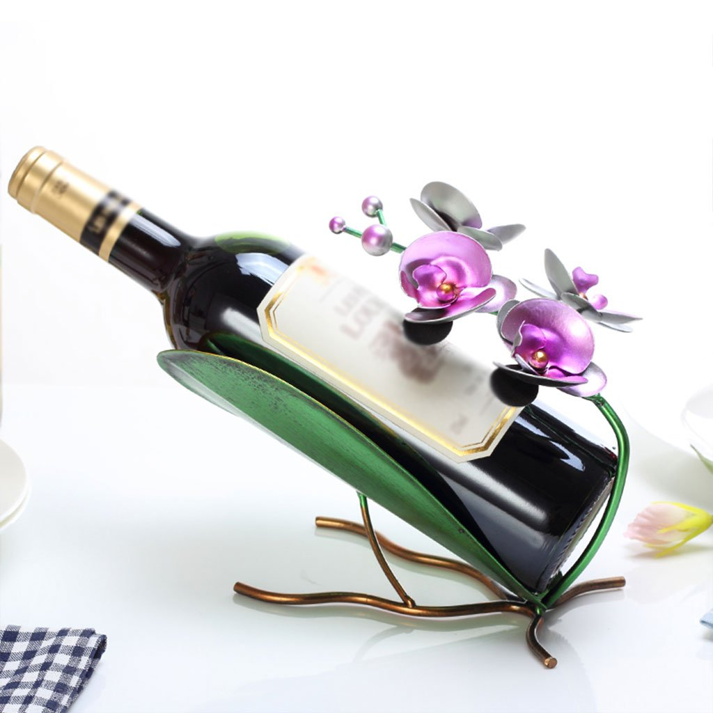 JD Estante del vino Wine Rack, Creative Crafts, Fashion Wine Rack, Tamaño: 27 Cm Largo 17 Cm Alto, 32 Cm Largo 21 Cm Alto (Color : C)