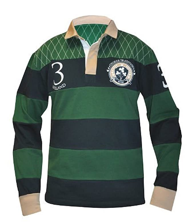 Guinness Grey /& Black Striped Rugby Jersey Mens Irish Ireland Embroidered New