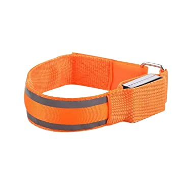Reflective Material Security & Protection Official Website Reflective Led Light Armband Arm Strap Safety Belt For Night Cycling Running