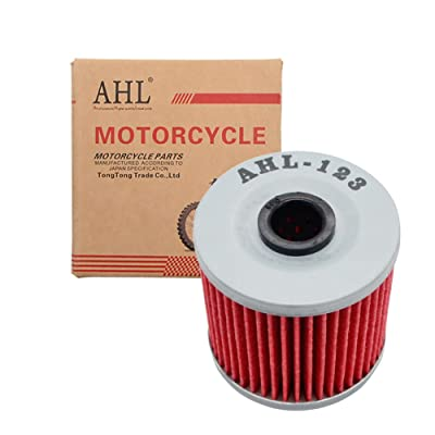 AHL 123 Oil Filter for Kawasaki KLF300 Bayou 4X4 300 1989-2004 / KLF220 Bayou 215 1988-2001 / KLF300 Bayou 4X4 300 1989-2004 / KEF300 Lakota 300 1995-2003 / KLT250 250 1982-1985: Automotive [5Bkhe1612139]
