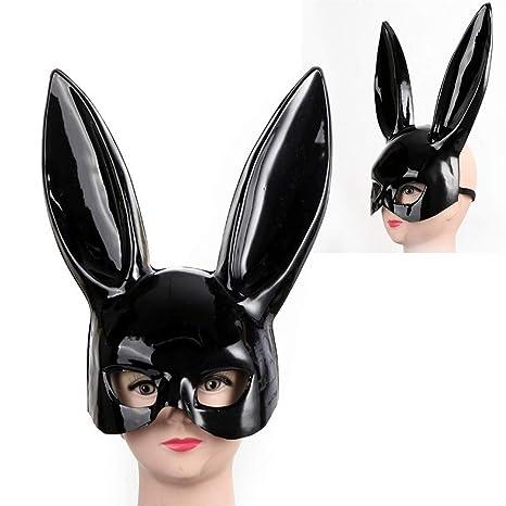 Lianaic Maschera Femmina Ragazza Glamour Rabbit Ear Mask Carino Bunny Long  Ears Maschera Bondage Halloween Masquerade 70ae522c7f1d