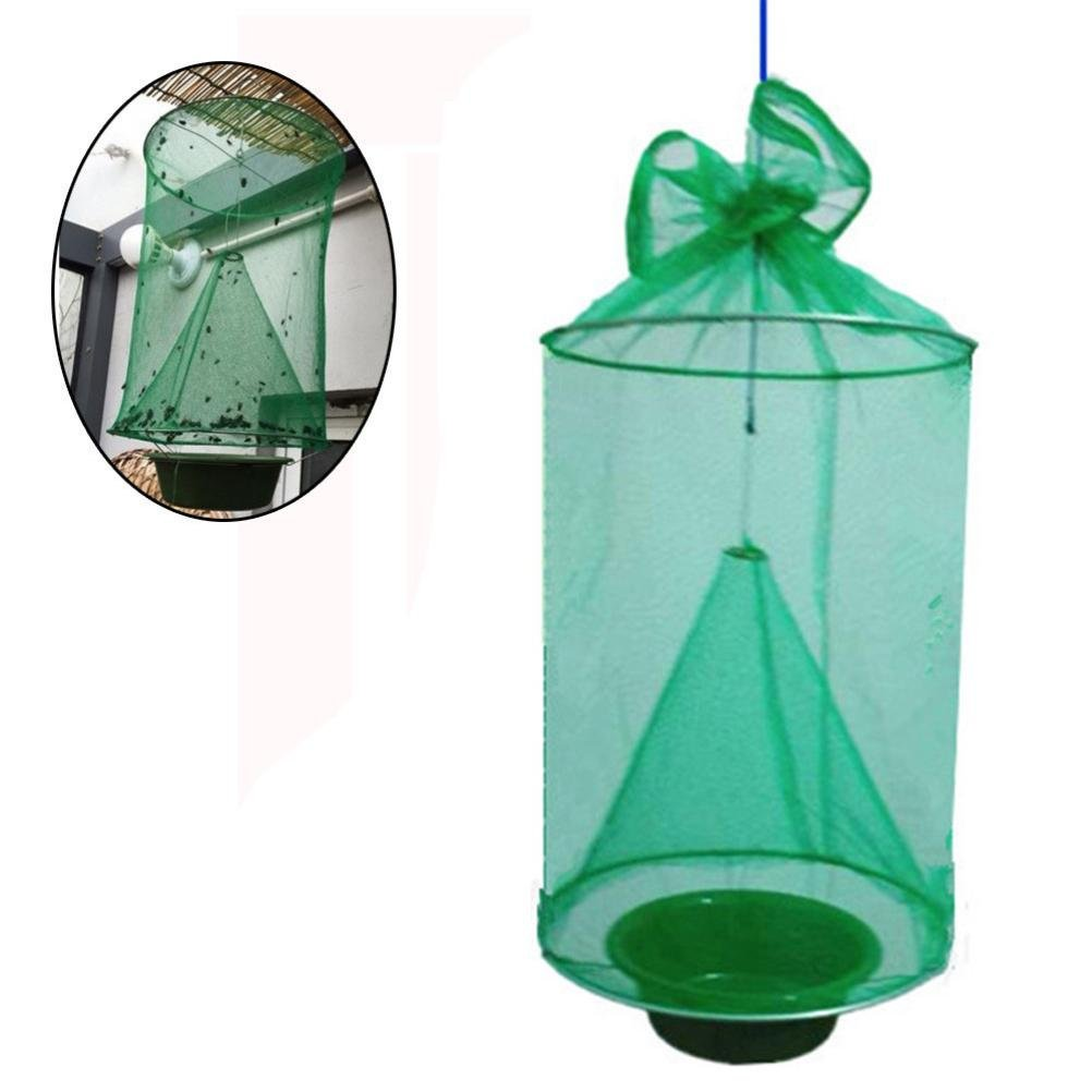 Fly Net Trap,lotus.flower Sunshine Spot House Insect Mosquito Catch- Non Toxic Folding-Capture Fly Net Hanging Trap Insect Catcher Pest (20.520.5CM)