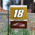 NASCAR Kyle Busch #18 Two Sided Garden Flag