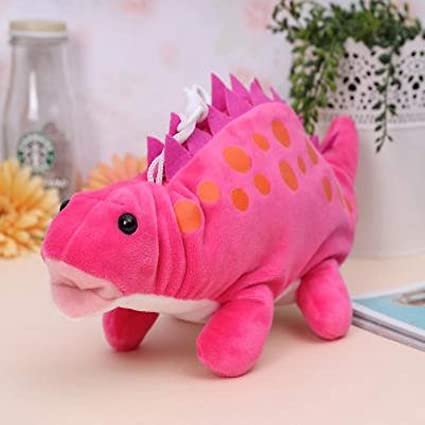Jewh Funny Dinosaur Plush Dragon Zero Creative Cartoon Funny Dinosaur Plush Toy Dragon Zero Case Stationery