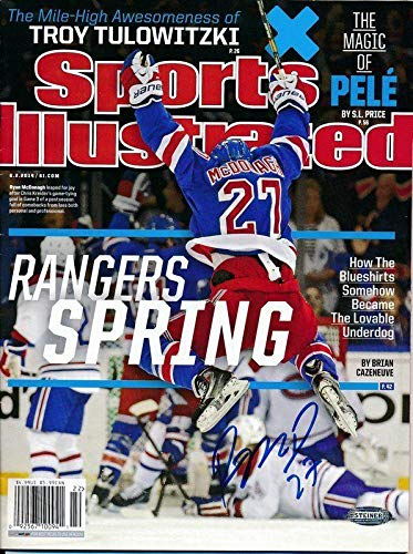 0d5a263b1 Ryan McDonagh Rangers Signed SPORTS ILLUSTRATED No Label Magazine 140784 - Steiner  Sports Certified - Autographed