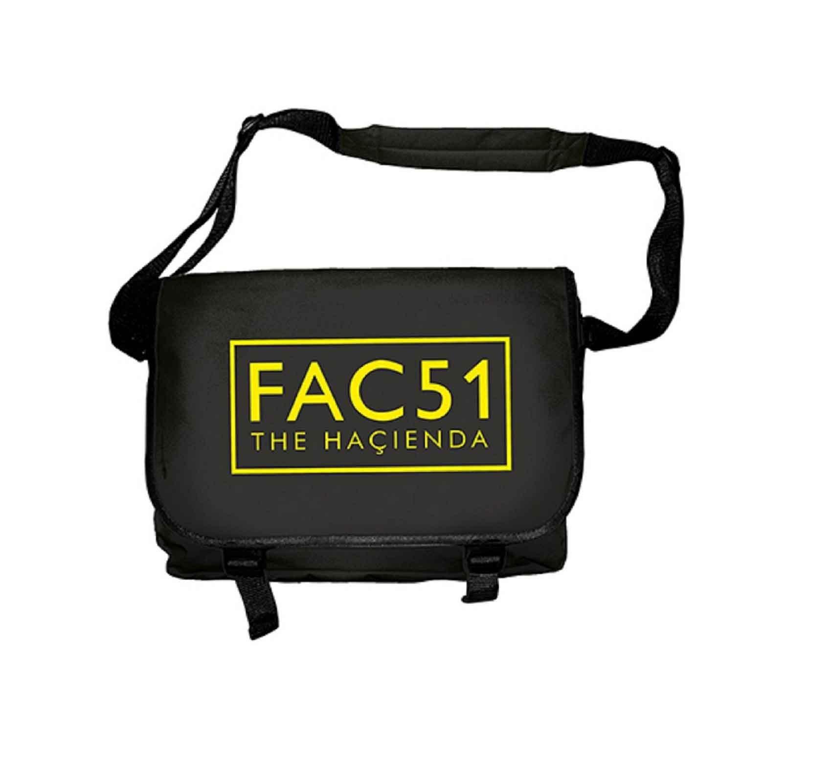 The Hacienda Fac 51 Logo Official Black Messenger Bag