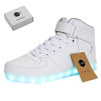 quite nice aec37 b5efa Z-joyee Unisex Sneakers LED Schuhe Erwachsene-Blinkende ...