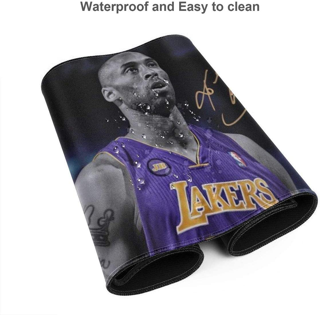 Extended Gaming Mouse Pad,XXL Mouse Pad Mat,Non-Slip Rubber Base,Long Mousepad,Edge Stitched,for Gaming//E-Sports//Keyboard,MVP 24 Legend Basketball Player-Mamba-Mentality-RIP 43
