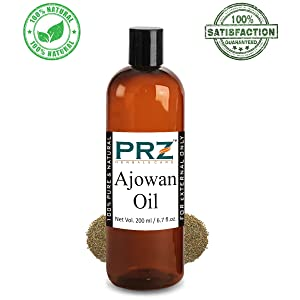 PRZ Ajowan Essential Oil (200ML) - Pure Natural & Therapeutic Grade Oil For Skin Care & Hair Care