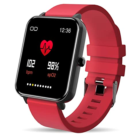Bluetooth Smart Watch: All-Day HeartRate Activity Tracking,Waterproof,Full Touch Screen,Step Counter,Calorie Counter,Pedometer,Sleep ...