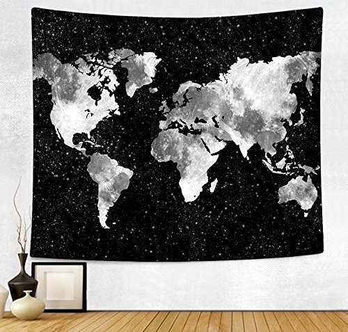 Map Tapestry,2018 Abstract Painting Wall Art Boho Hippie Wall Hanging Tapestry Home Decor for Bedroom Living Room Dorm Apartment 51