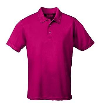 43797674 AWDis Men's Short Sleeve Cool Polo Shirt Hot Pink at Amazon Men's ...