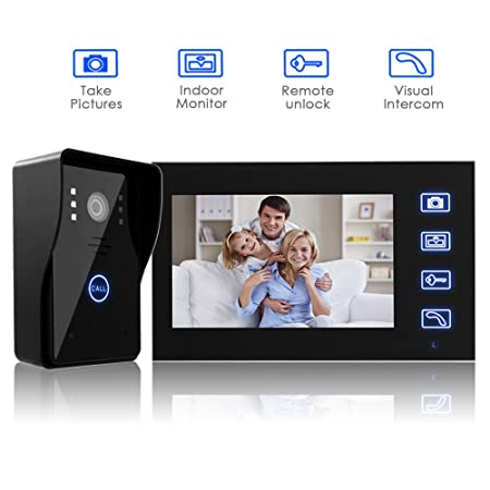 7u0026quot; Wireless Doorbell,Amzdeal Video Door Phone Intercom Entry System  Kit With 1 Camera