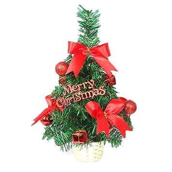 melysEU Árbol de Navidad DIY Cedar Tree Christmas Decoration Ventana de Escritorio de Navidad Desmontables Año