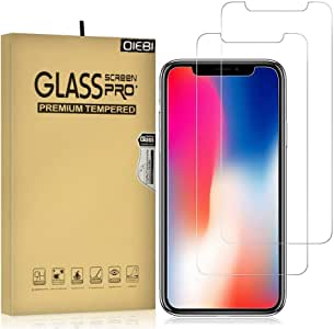 iPhone XR/iPhone 11 Screen Protector, iPhone 11 Screen Protector, 2-Pack Temper Glass Screen Protector for iPhone XR 9H Hardness Crystal Clear Scratch Resistant Easy Installation Screen Film