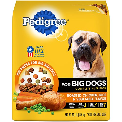PEDIGREE Big Dogs Adult Complete Nutrition Roasted Chicken Rice & Vegetable Dry Dog Food; 100% Complete and Balanced, for wellness and whole body health (Professional Chicken Adult Dog)