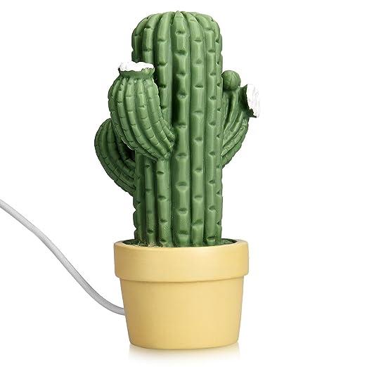 2 opinioni per Navaris lampada da notte LED design cactus- con cavo USB 2m e batterie, graziosa
