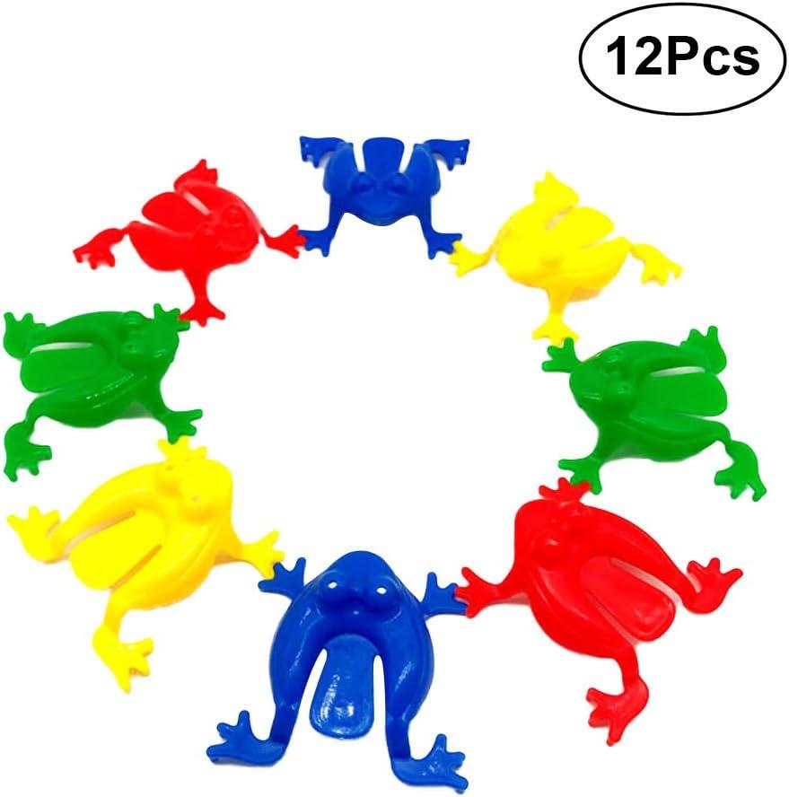 colore casuale TOYANDONA 100 Pz Mini salto rana salto giocattoli animali partito favorito jumpy per i bambini