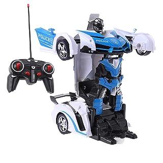 Dabixx Giocattolo per Auto Telecomando, Giocattoli del Regalo dei Bambini dei Bambini dei Robot di RC della Strada automobilistica telecomandata ad Alta velocità - Auto della Polizia
