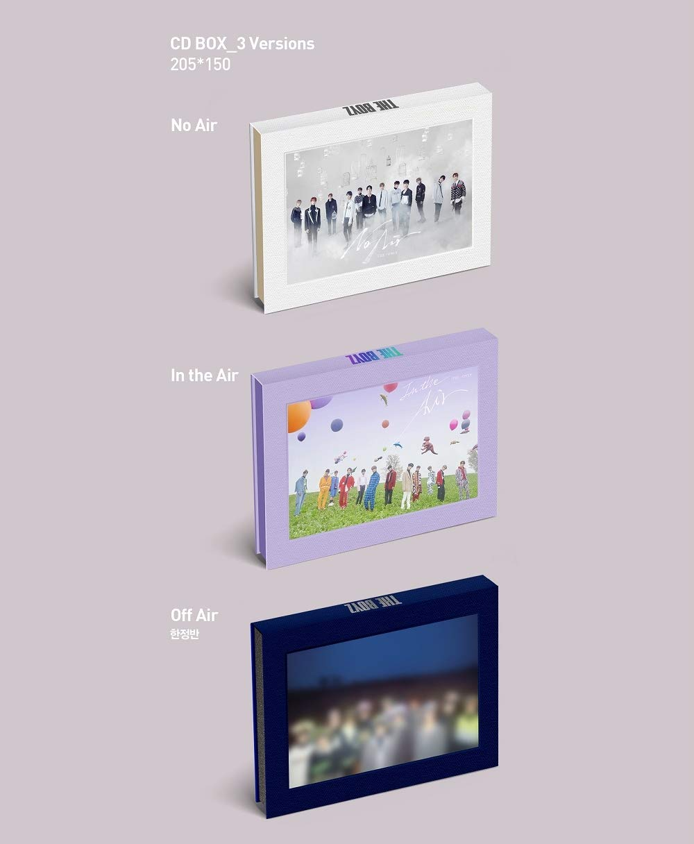 3rd Mini Album The ONLY CD+Photocard+Film Frame+Sticker+Folded Poster Kakao M The Boyz No Air ver.