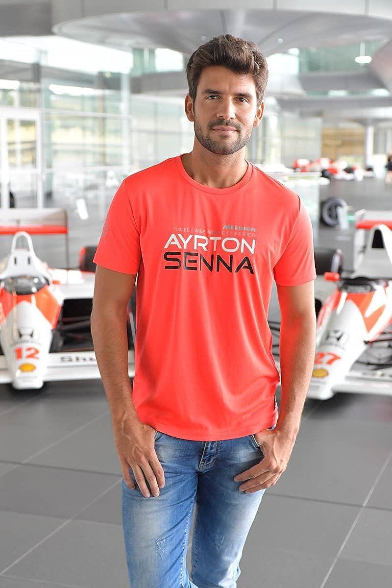 Ayrton Senna Authentic Red McLaren T-Shirt