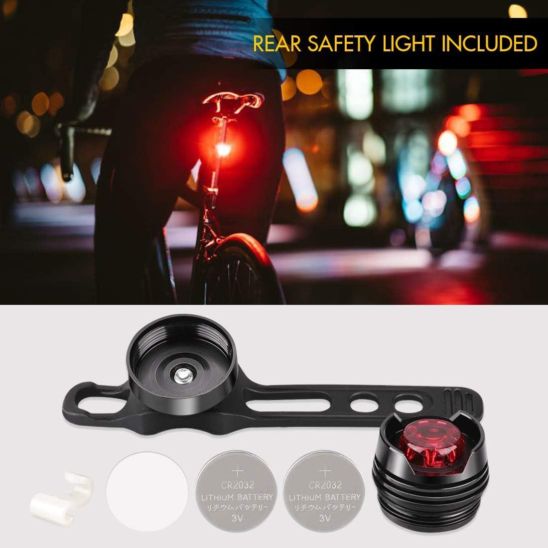 LETION Luz Bicicleta,Luces Bicicleta Recargable USB con 800 L/úmenes,Linterna Bicicleta con Luz Bicicleta Delantera Impermeable y Tiempo de Ejecuci/ón 5 horas para Carretera y Monta/ña