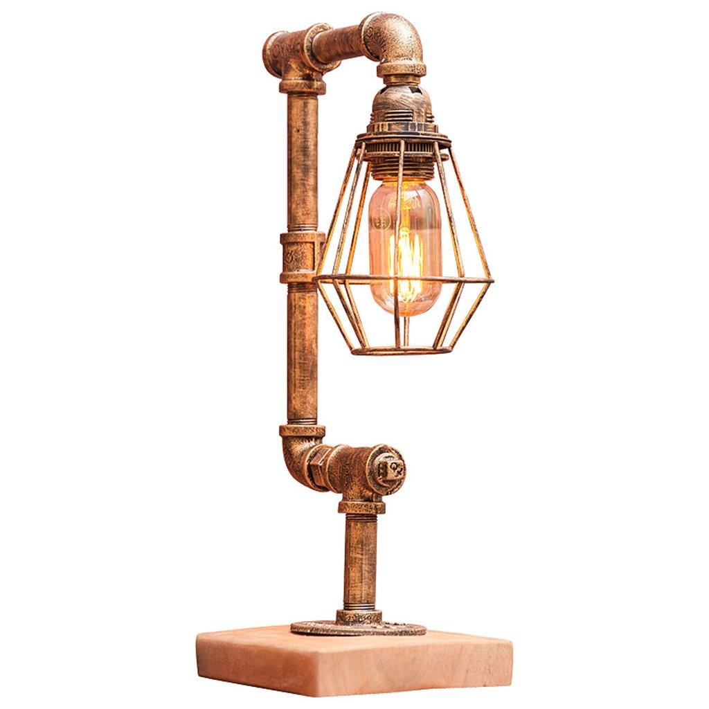 AJZGF Nordic creative lamp Kreatives industrielles Retro- Tischlampe-Kaffeestab-Stangenrohr-Eisenlampe der Tischlampe Table lamp