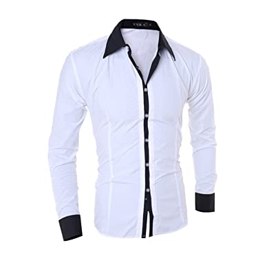 7168f0373c6 Crystky NEW Hot Sale Men Shirt Fashion Quality Solid Color Long Sleeve  Casual Shirt Men Slim