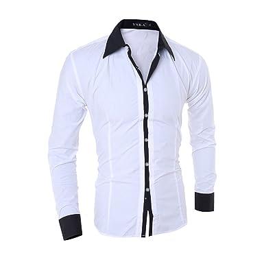 56a5e161d KEBINAI NEW Hot Sale Men Shirt Fashion Quality Solid Color Long Sleeve  Casual Shirt Men Slim Fit Camisa Masculina at Amazon Men s Clothing store